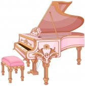 Fortepiano And Chair For Fortepiano