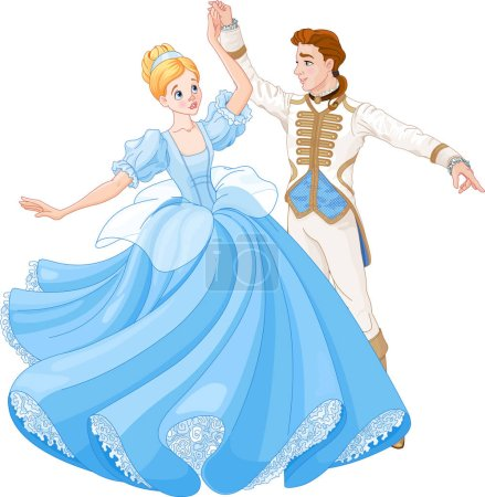 Dancing Cinderella and Prince