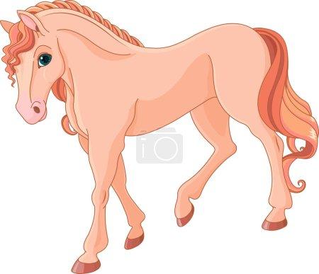 Magic pink horse