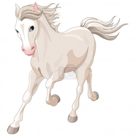 cartoon horse run
