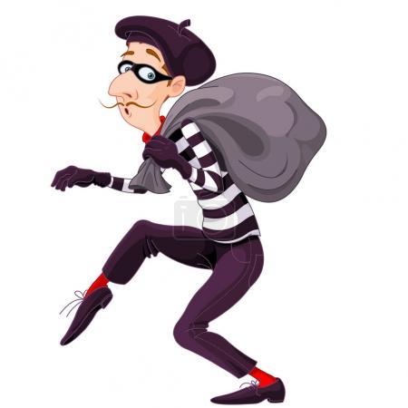 Illustration of very cute burglar...