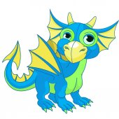 Illustration of baby dragon vector