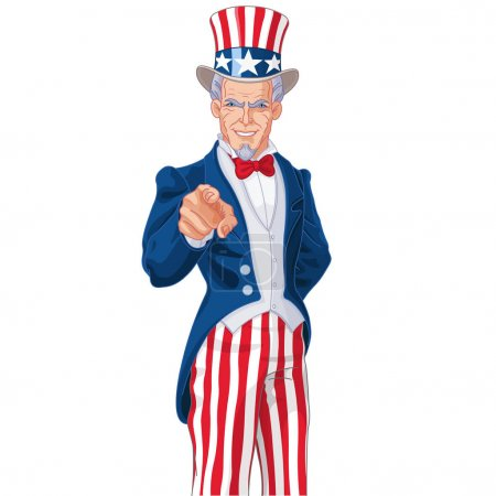 man dressed up like Uncle Sam