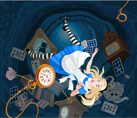 Alice is falling down
