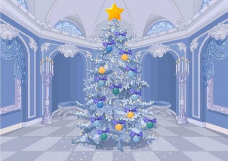 Christmas tree with a shining star