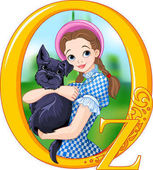 Dorothy and Toto Illustration