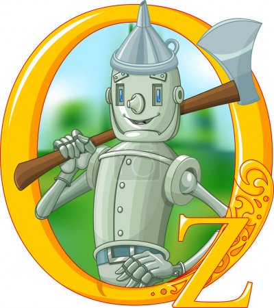 Illustration for Illustration if woodmen with ax. Wizard of Oz illustration - Royalty Free Image