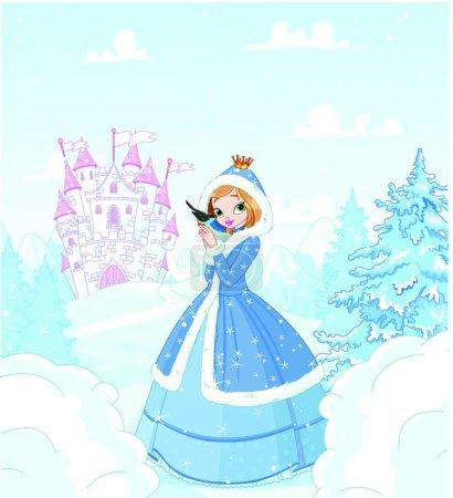 Cute princess in the snow