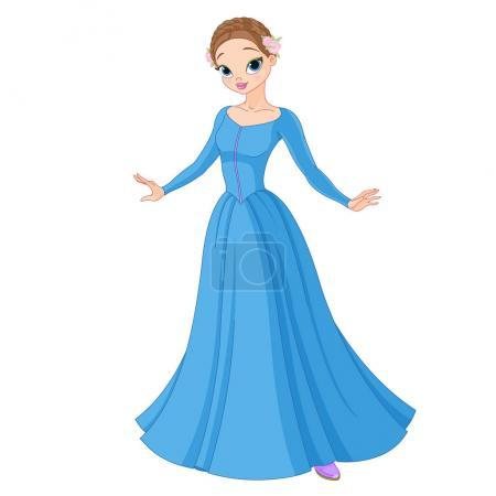 Illustration pour Illustration de la belle princesse conte de fées - image libre de droit