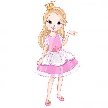 Illustration for Cartoon beautiful princess, vector illustration - Royalty Free Image
