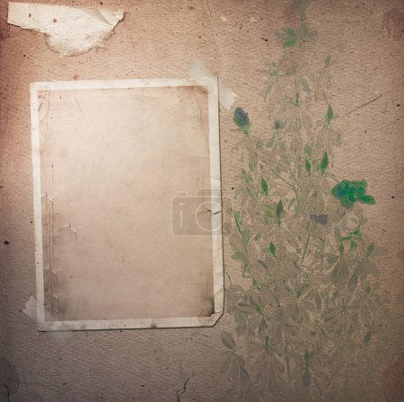 Foto de Viejo álbum vintage con marcos de papel para fotos - Imagen libre de derechos