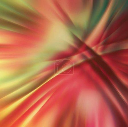 Photo pour Ancien motif chaotique abstrait avec des lignes courbes translucides colorées - image libre de droit