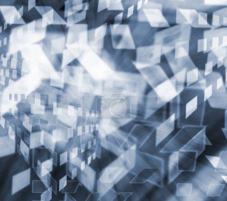 Photo pour Multicolore motif géométrique répétitif en couleur bleu vif pour la conception d'affiches de cartes d'invitation - image libre de droit