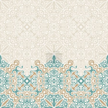 Seamless border vector ornate in Eastern style. Islam pattern