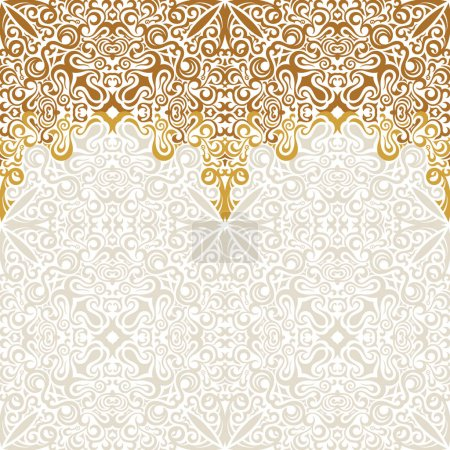 Seamless border vector ornate in Eastern style. Islam pattern