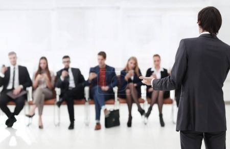 business background. the blurred image of the office.