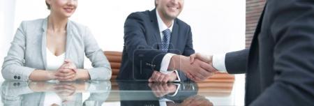 Handshake of successful business people