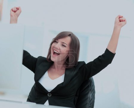 Exited, successful business woman