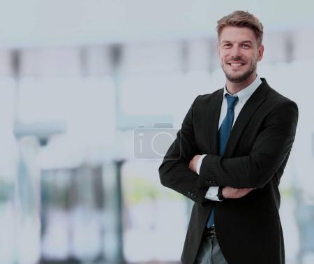 Photo for Handsome smiling confident businessman portrait - Royalty Free Image