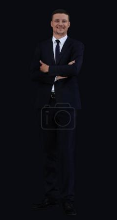 full growth. portrait of confident businessman