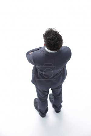 confident businessman. Top view and side view.