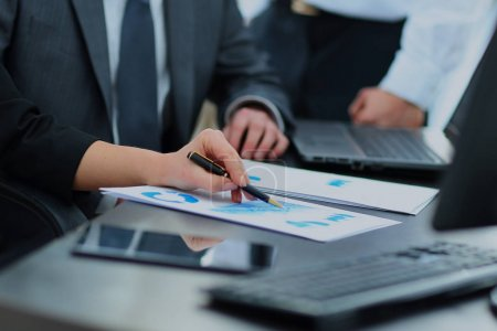 Group of business people working in office.