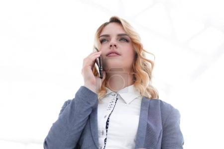 business woman, discussing the smartphone business issues
