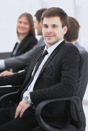 Photo for Business team with their leader in the foreground - Royalty Free Image