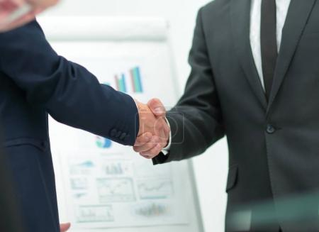 Photo for Closeup of a business handshake partners.the concept of partnership - Royalty Free Image