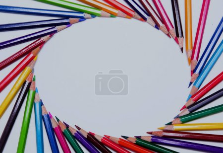 Photo for Color pencil isolated on white - Royalty Free Image