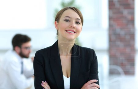closeup.face of a successful business woman.