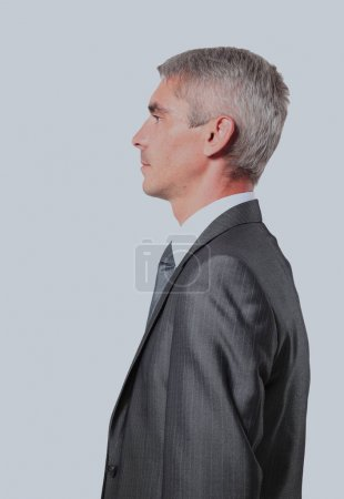 profile of a middle aged business man.