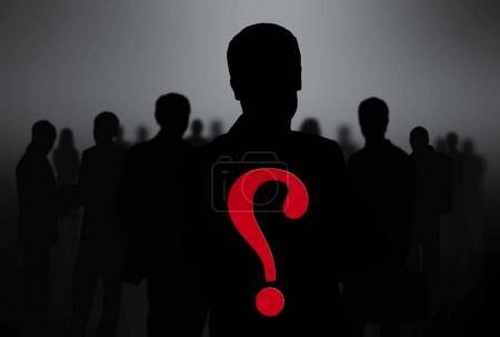Photo pour Silhouettes noires des gens d'affaires - image libre de droit