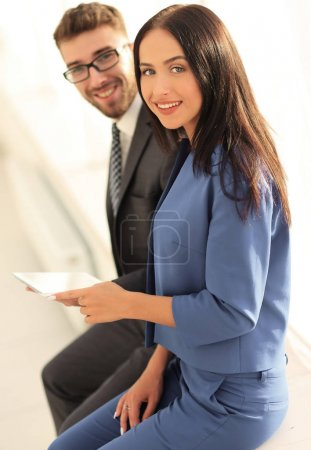 Photo for Young professionals work in modern office.Business crew working with startup - Royalty Free Image