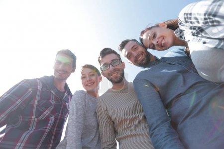 Photo pour Bottom view.successful creative business team.the concept de travail d'équipe - image libre de droit