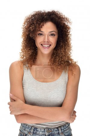 stylish young woman with day make-up.