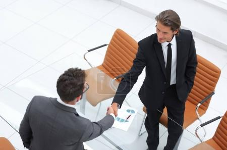 Photo for Closeup. handshake financial partners. concept of partnership - Royalty Free Image