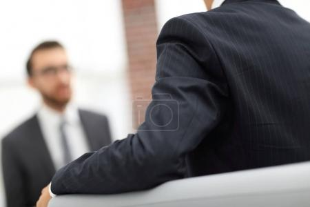 Photo for Successful businessmen having conversation in office - Royalty Free Image