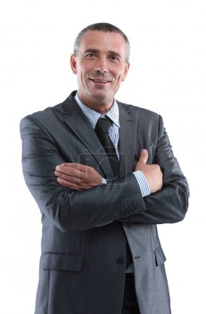 Photo for Closeup face of a successful businessman - Royalty Free Image