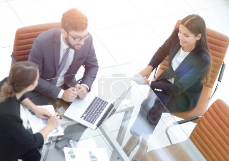 Business people meeting to discuss the situation on the market