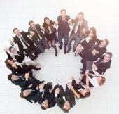 """Постер, картина, фотообои """"Концепция построения .large успешный бизнес команда сидя команды"""""""