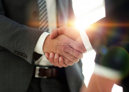 Photo for Business people shaking hands after good deal - Royalty Free Image
