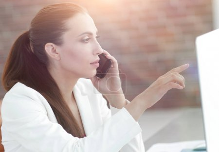 woman employee of the company currently