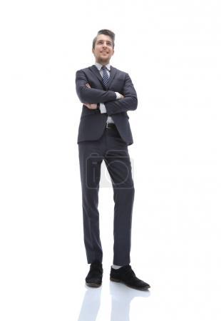Photo for Bottom view.successful young business man.isolated on a light background - Royalty Free Image