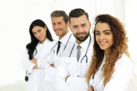 portrait of female doctors with colleagues