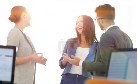 Photo for Three candidates are preparing for a job interview - Royalty Free Image