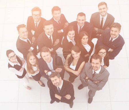 Photo for View from the top.professional business team.isolated on white background - Royalty Free Image
