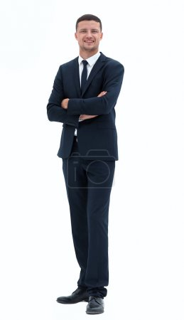 Photo for Smiling businessman in a business suit.portrait in full growth. - Royalty Free Image