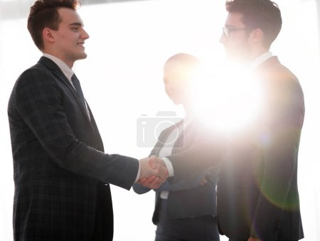 Photo pour Business concept.meeting de business people.photo avec espace de copie . - image libre de droit