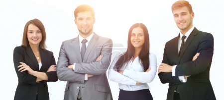 Foto de Grupo de gente de negocios. aislado sobre fondo blanco - Imagen libre de derechos